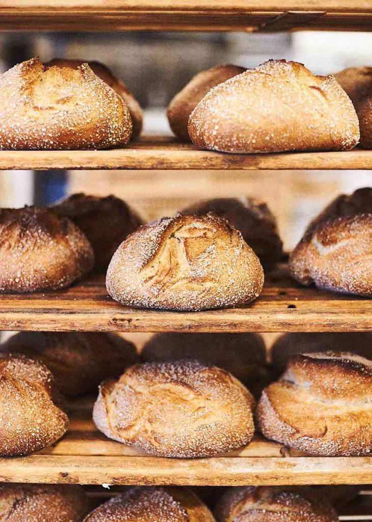 Frische Brote direkt aus dem Ofen - Foodfotografie neon fotografie / huebsch huebsch